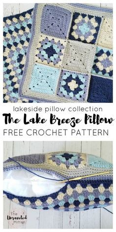 The Lakeside Pillow Collection | Lake Breeze Pillow | Free Crochet Pattern | Part 2 | The Unraveled Mitten