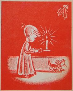 Vintage Christmas Card, 1948