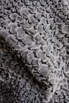 Fabric Manipulation - two-tone fabric textures with gathered puffs & soft volume; textiles design