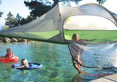 After a swim in the summer heat, relaxing in a Tentsile is a must do!