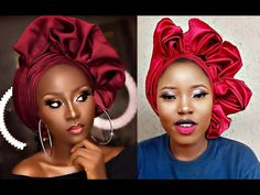 African Head Scarf, African Hair Wrap, African Head Wraps, African Dress, Hair Wrap Scarf, Hair Scarf Styles, How To Tie Gele, Ankara Short Gown Styles, African Wedding Attire