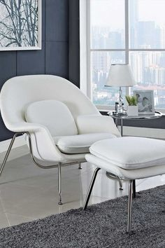 W Lounge Chair and Ottoman Set - White by Modway on @HauteLook