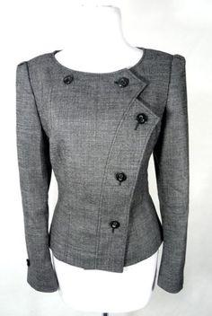 ESCADA Black Tweed Wool Jacket Blazer 36   eBay
