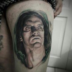 Negative Tattoo, Type O Negative, Peter Steele, Inked Magazine, Portrait Tattoos, Metal Girl, Green Man, Black And Grey Tattoos, Black Metal