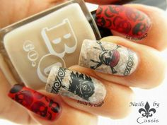 Nails by Cassis: 31DC2014 - Movie: Pirates of the Caribbean Inspired Stamping Mani