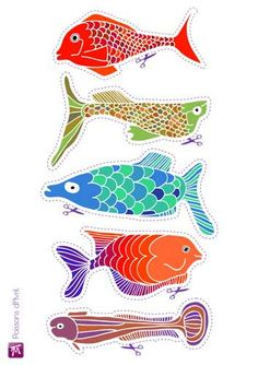 inspiration for painted furniture Fish Chart, 5 April, Fishing Signs, Fish Print, Printed Pages, Animal Decor, Kids Prints, Beach Art, Clay Art