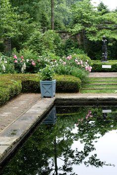 Stan Hywet garden reflecting pool