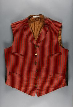 Footman's livery waistcoat, wool twill with cotton twill back, c. 1915, American.
