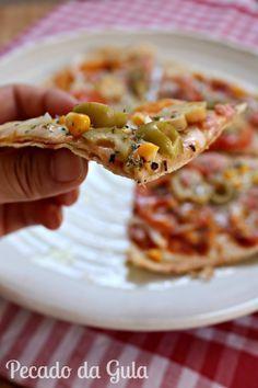 PECADO DA GULA: Pizza grelhada na frigideira - fininha e crocante!!!