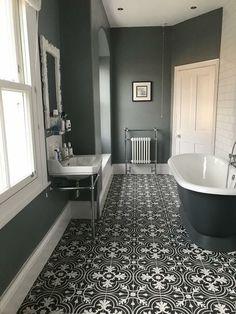 Stunning Farmhouse Toilet Design and Decor Concepts You Will Go Loopy For Bathroom Red, Attic Bathroom, Bathroom Layout, Bathroom Interior Design, Small Bathroom, Master Bathroom, Long Narrow Bathroom, Bathroom Ideas, Bathroom Makeovers