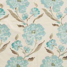 Terrys Fabrics extensive range of curtain fabrics now includes Eternal in Eau De Nil, which is a light and delicate blue floral design. For our full range of curtain fabrics, visit Terrys Fabrics online today. Curtain Fabric, Curtains, Cotton Lawn Fabric, Blue China, Fabric Online, Free Delivery, Pattern Design, Floral Design, Delicate