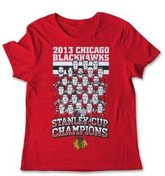 Coming to a game at the UC? Be sure to pick up the Stanley Cup champions Illustrated tee at the #Blackhawks Store!