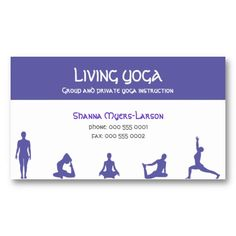 Yoga People Purple Business Cards