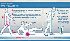 How to walk on ice without falling on your butt! Walk like a penguin!