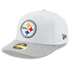 Pittsburgh Steelers New Era Tech Sweep Low Profile 59FIFTY Fitted Hat - White/Heathered Gray
