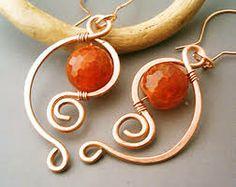 pinterest copper earrings handmade - Αναζήτηση Google