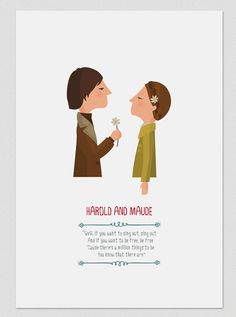 Illustration. Harold And Maude. Wall art. Print by Tutticonfetti
