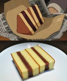 Wind Rises Ghibli Feast Japanese Sponge Cake (Castella) with red bean paste filling.