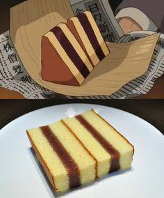 Wind Rises Ghibli Feast Japanese Sponge Cake (Castella) with red bean paste filling.