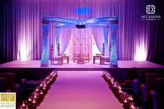 """""""Palazzo"""" crystal butterfly unique mandap - #OBSevents"""
