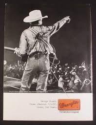 Bildergebnis für George Strait Wrangler Jeans Original Promo Poster