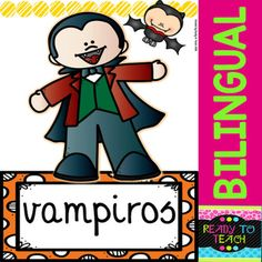 Bloodsuckers - Vampires - Reading Comprehension and worksheets - Bilingual Comprehension Questions, Reading Comprehension, Halloween Art Projects, Esl Resources, 5th Grade Reading, Reading Activities, Foreign Languages, Task Cards, Vampires