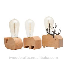 Source Christmas Decoration 2017 Desk Light Wooden Animal Kids Table Lamp On Malibaba