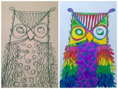 Fun Owl Art Project! Must do this with the kids. <3