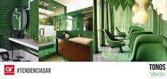 El verde representa tranquilidad, esperanza y frescura. Es un color del elemento madera, el verde también simboliza el crecimiento de la primavera. También indica el buen estado y la salud #TendenciasAR
