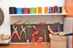 workspace #leather #handmade #bibi Shelves, Kitchen, Leather, Handmade, Home Decor, Atelier, Shelving, Cooking, Hand Made