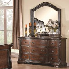 coaster maddison drawer dresser w crowned top coaster fine furniture