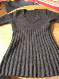 Empire Style Mini Dress--free knitting pattern