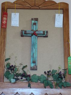 cross with coral