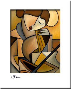 Música abstracta pintura arte pop moderno imprimir por fidostudio