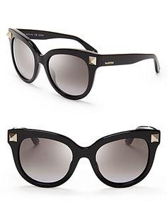 Valentino Rockstud Oversized Cat Eye Sunglasses | Bloomingdale's