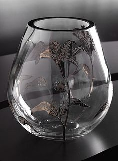 """Orrefors Silver Lily Vase   $6,000.00 11 1/4""""       Item# 6908589  Also see the Silver Rose Vase"""
