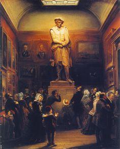 Amsterdam, Tetar van Elven, Rembrandt in de Koninklijke Academie in 1848, 1851, AHM. Toen Royer zijn gipsmodel af had, werd het in de academie in Den Haag tentoongesteld.