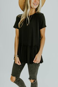 Black Lightweight Top | ROOLEE