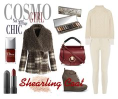 """Shearling Coat"" by chantelleporter on Polyvore featuring Qupid, Chicwish, Oasis, Topshop Unique, Chloé, Urban Decay and shearlingcoat"