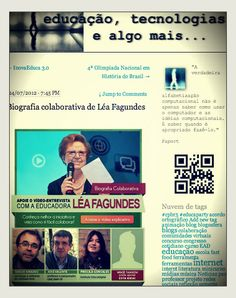 """A educadora e blogueira Gládis Santos abre espaço para a campanha do vídeo-entrevista da Léa Fagundes no seu blog """"Educação, tecnologias e algo mais...""""  http://catarse.me/pt/projects/842"""