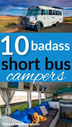 Have you ever thought about living in a short school bus conversion? This list of perfect short bus conversions will make you want to build your own! Bus Living, School Bus Conversion, Camper Conversion, Bus Remodel, School Bus Tiny House, Converted School Bus, Short Bus, Van Home, Mini Bus