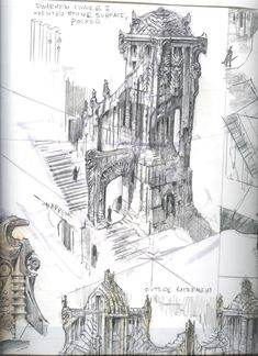 Dwarven Concept Art | Dwemer Tower concept art from The Elder Scrolls V: Skyrim by Adam ...