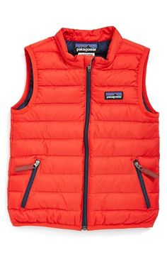 Free shipping and returns on Patagonia Windproof & Water Resistant Down Sweater Vest (Baby) at Nordstrom.com. Lofty and toasty compressible down adds serious warming power to a channel-quilted vest that crumples down to a handful and can be stuffed into a diaper bag or backpack so that it's easy to add a layer of extra warmth whenever your little one starts feeling chilly. It's windproof, tear-resistant and features a water-repellant finish, too.