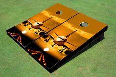 Jet Sunset Themed Cornhole Boards