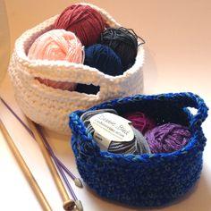 the geeky knitter: crochet basket - free crochet pattern