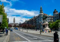 Avenida dos Aliados y Praça da Liberdade en el centro de Oporto