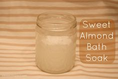 Beauty DIY: Sweet Almond Bath Soak--smells soo good & takes a minute to make