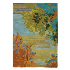 Bring painterly appeal to your den or living room with this hand-tufted wool rug, featuring an abstract nature motif.Product: Rug...