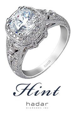 CYBER MONDAY SALE by HadarDiamonds.com ... Receive 30% off Custom Engagement Ring Design with diamond purchase.  Featured: Hand engraved halo engagement ring, custom made with Love in Southern California. Offer valid now through 11/29/16.