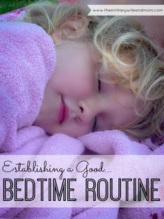 How to establish an awesome bedtime routine that will make bedtime a breeze! Positive parenting tips.